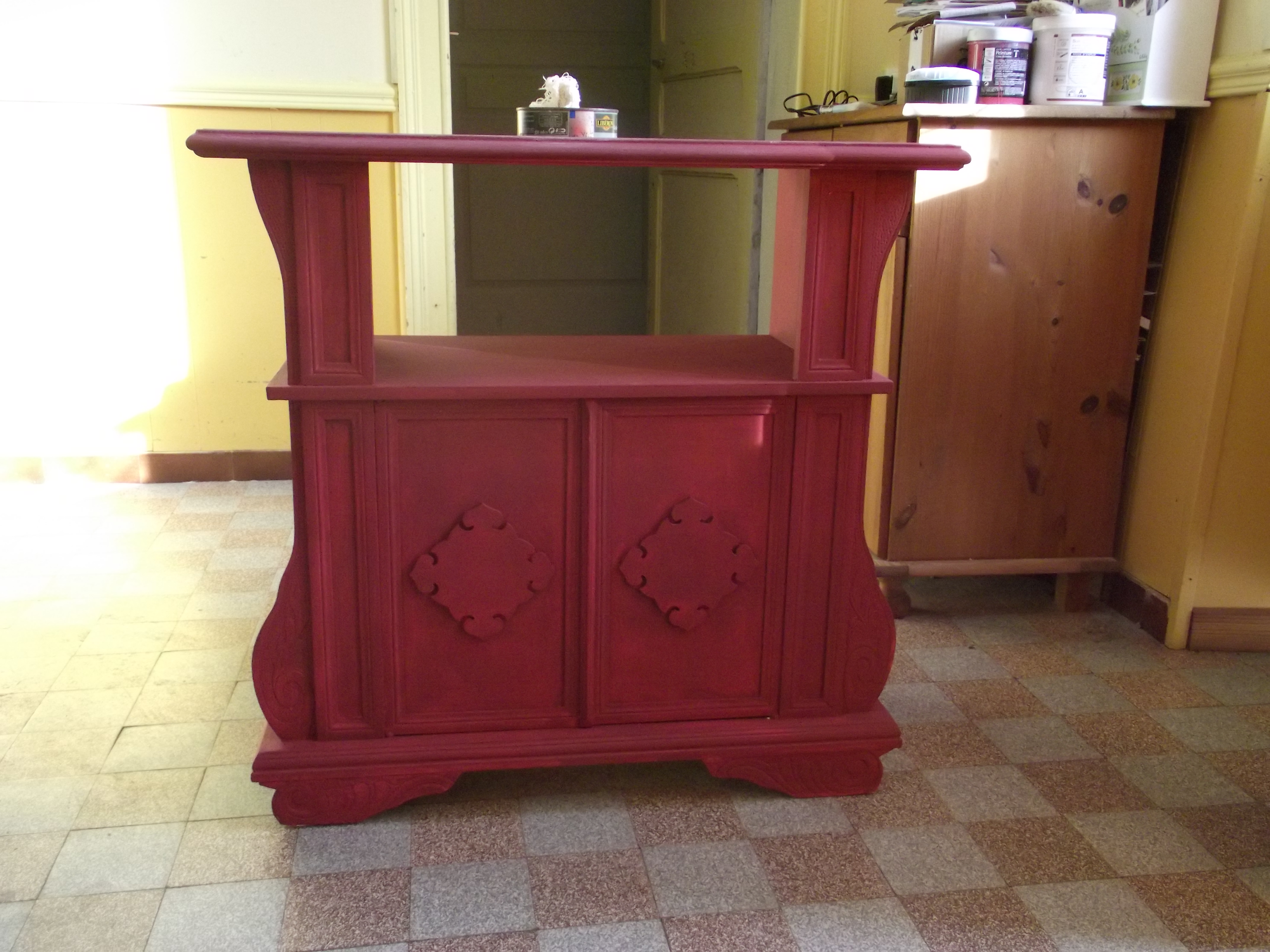 restauration d un petit meuble j 39 aime ceci et aussi cela. Black Bedroom Furniture Sets. Home Design Ideas